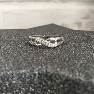 Marked 925 Silver with crystals - Infinity Ring
